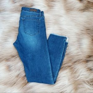 Articles of Society High Rise Skinny Jean Raw Hem